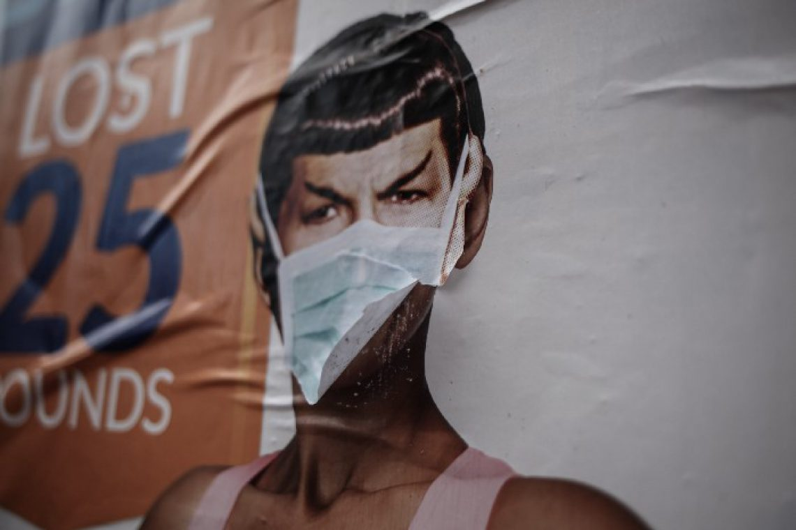 Spock, from Star Trek, spotted with a mask on the streets of Seattle in times of COVID19. Photo by Nick Bolton on Unsplash.